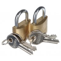 Twin Pack Brass Padlocks
