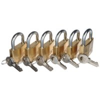 ABUS 6-Pack Brass Padlocks