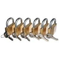 ABUS 6-Pack Brass Padlocks