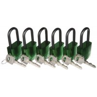 ABUS Colour-Coded 6-Pack Aluminium Padlocks