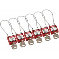 Compact Cable Padlocks 6-Pack