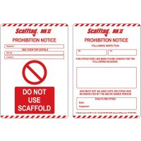 Scafftag® Scaffold Prohibition Inserts
