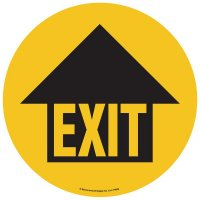Floor Graphic Markers - Exit with Arrow