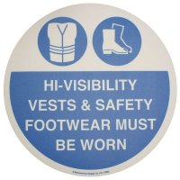 Floor Graphic Markers - High Vis Vests & Safety Footwear