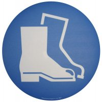 Floor Graphic Markers - Protective Footwear Symbol
