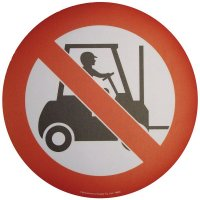 Floor Graphic Markers - No Forklift Trucks (Symbol)