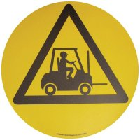 Floor Graphic Markers - Forklift Truck Area symbol