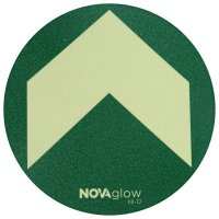 Photoluminescent Circle Floor Markers with Arrow