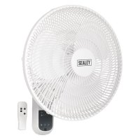 "Sealey 16"" Remote Control Wall Fan"