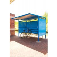 Traditional Cycle Shelters - Powder Coated Sides