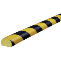 Polyurethane Foam Rounded Wall Impact Protectors - Hatched