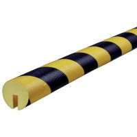 Rounded Polyurethane Foam Edge Impact Protectors - Hatched