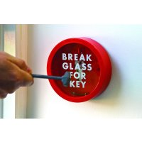 Circular Break Glass Key Box Holder