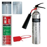 Deluxe Aluminium CO2 Extinguisher, Sign & Seal Kit