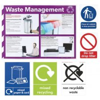 Waste/Recycling Sign and Poster Multipack