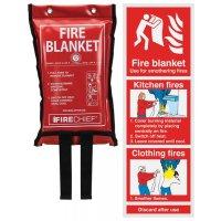 Fire Blanket & Instruction Sign Bundle Kit