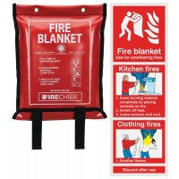 Fire Blanket & Instruction Sign Bundle Kit
