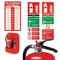 Heavy Duty Fire Extinguisher Stand and Sign Kits