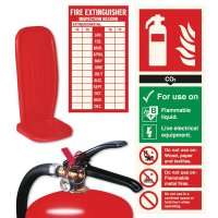 2 Part Extinguisher Stand and Sign Kits