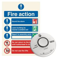 Battery Operated Smoke Alarm & Sign Kit