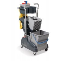 Numatic Twin Mop Cleaning Trolley With Waste Bin