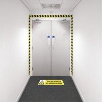 Safety Zoning Wall Marking Kits - Entering Asbestos