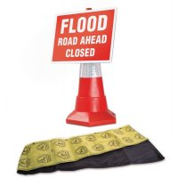 Flood Barrier and Traffic Flood Sign Kit