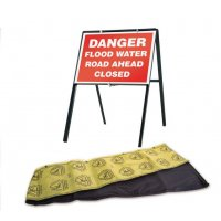 Flood Barrier and Traffic Flood Sign Kit