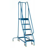 Narrow Aisle Spring Loaded British Standard Steps with Non Slip Treads
