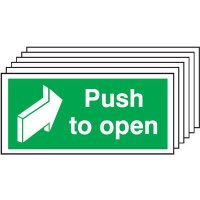 6-Pack Push To Open & Directional Arrow Signs