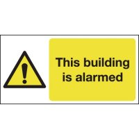 This Building is Alarmed Window Fix Sign