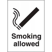 Metal Look Signs - Smoking Allowed