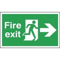 Fire Exit Running Man & Arrow Right Signs