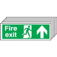 6-Pack Fire Exit Running Man & Arrow Up Signs