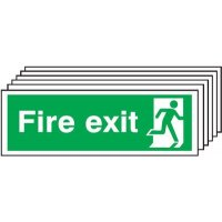 6-Pack Fire Exit Running Man Right Signs