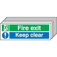 6-Pack Running Man/Keep Clear Instruction Signs