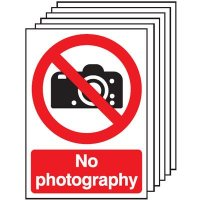 6-Pack No Photography Signs