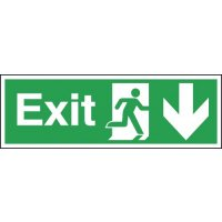 Exit Running Man Right Arrow Down Signs