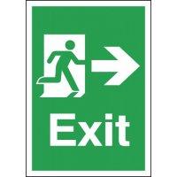 Exit Running Man & Arrow Right Signs