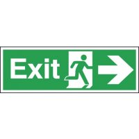 Exit Running Man & Arrow Right Signs