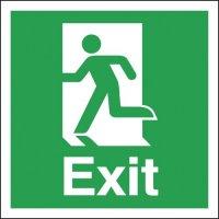 Exit Running Man Left Signs