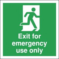Exit For Emergency Use Only Signs