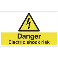 Anti-Slip Floor Signs - Danger Electric Shock Risk