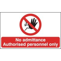 No Admittance Authorised Personnel Anti-Slip Floor Signs
