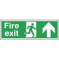 Fire Exit Running Man Right & Arrow Up Signs