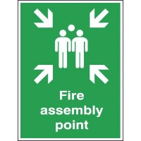 Fire Assembly Outdoor Aluminium Signs
