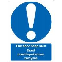 Fire Door Keep Shut Multi-Language Signs