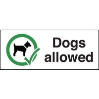 Dogs Allowed Signs