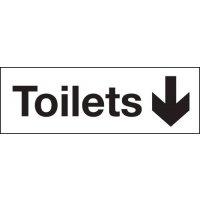 Toilets Down Arrow Washroom Signs