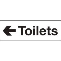 Toilets Left Arrow Washroom Signs